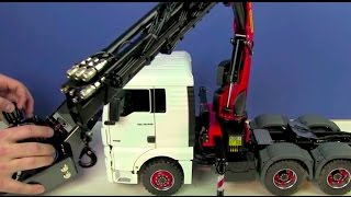 RC TRUCK ACTION REVIEW - MAN 6x6 WITH PALFINGER CRANE - ScaleART