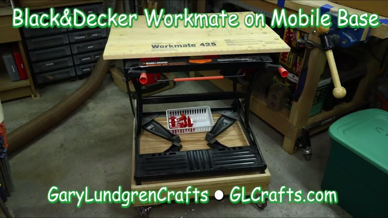 Black decker workmate mobile base ep2017 24 youtube black decker workmate mobile base ep2017 24 greentooth Images
