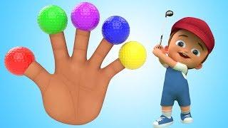 Little Baby Soccer Balls 3d Finger Family Rhymes for Kids Children Toddler Educational Videos