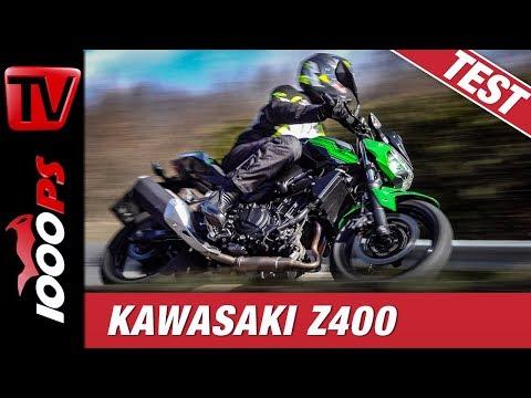 Kawasaki Z400 Test - superleichtes Nakedbike in der A2 Führerscheinklasse