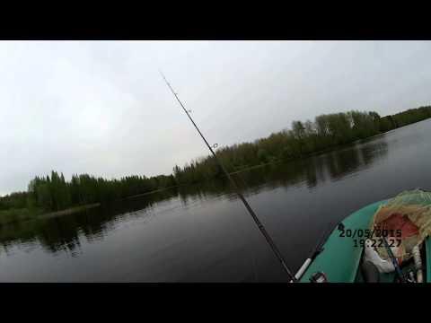 Первый выезд на щучку (видео-отчет) - Рыбалка 20 мая 2015 -  ловля щуки в мае