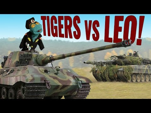 How many Tiger II tanks does it take to defeat a Leopard II?