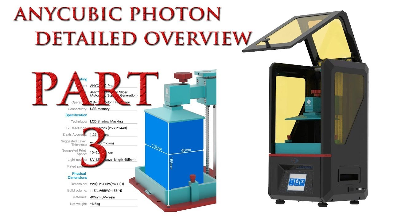 ANYCUBIC PHOTON Resin Printer Pt 3, Print & Thoughts