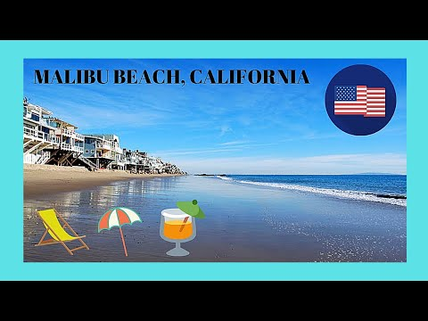 Walking around beautiful MALIBU BEACH, CALIFORNIA (USA)
