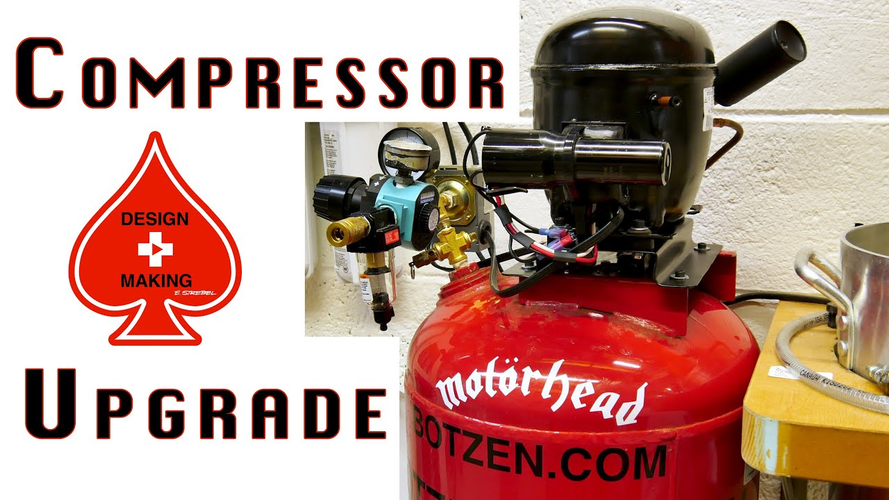 Air Compressor From Fridge Parts Gets An Upgrade | Hackaday