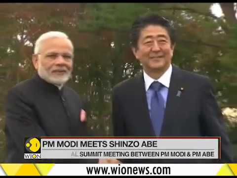 PM Modi meets PM Shinzo Abe at picturesque city of Yamanashi