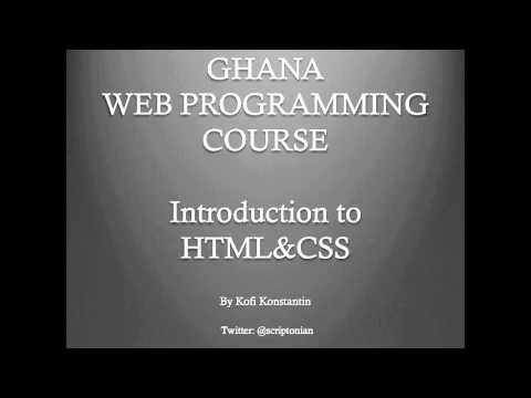 Ghana Web Programming Course (GWPC) - Course Intro