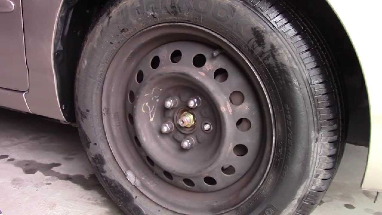 small resolution of how to replace broken lug nut studs wheel bolt repair toyota corolla fix youtube