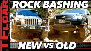 Trail Damage | Jeep Wrangler vs VW Touareg See Which One We Break First!