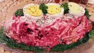 Новогодние салаты, новые рецепты на НОВЫЙ ГОД 2018 Салат Селедка под шубой классический рецепт, шуба