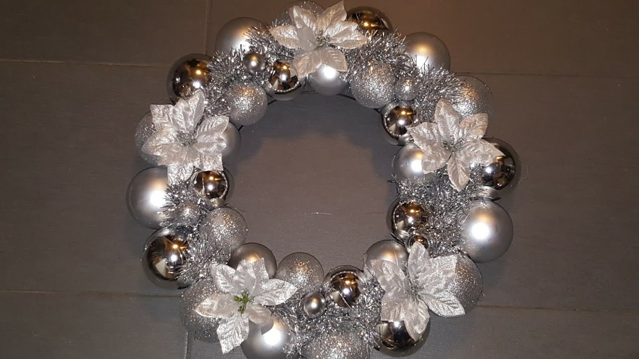 How to make an EASY Christmas/Holiday Ornament Wreath ...