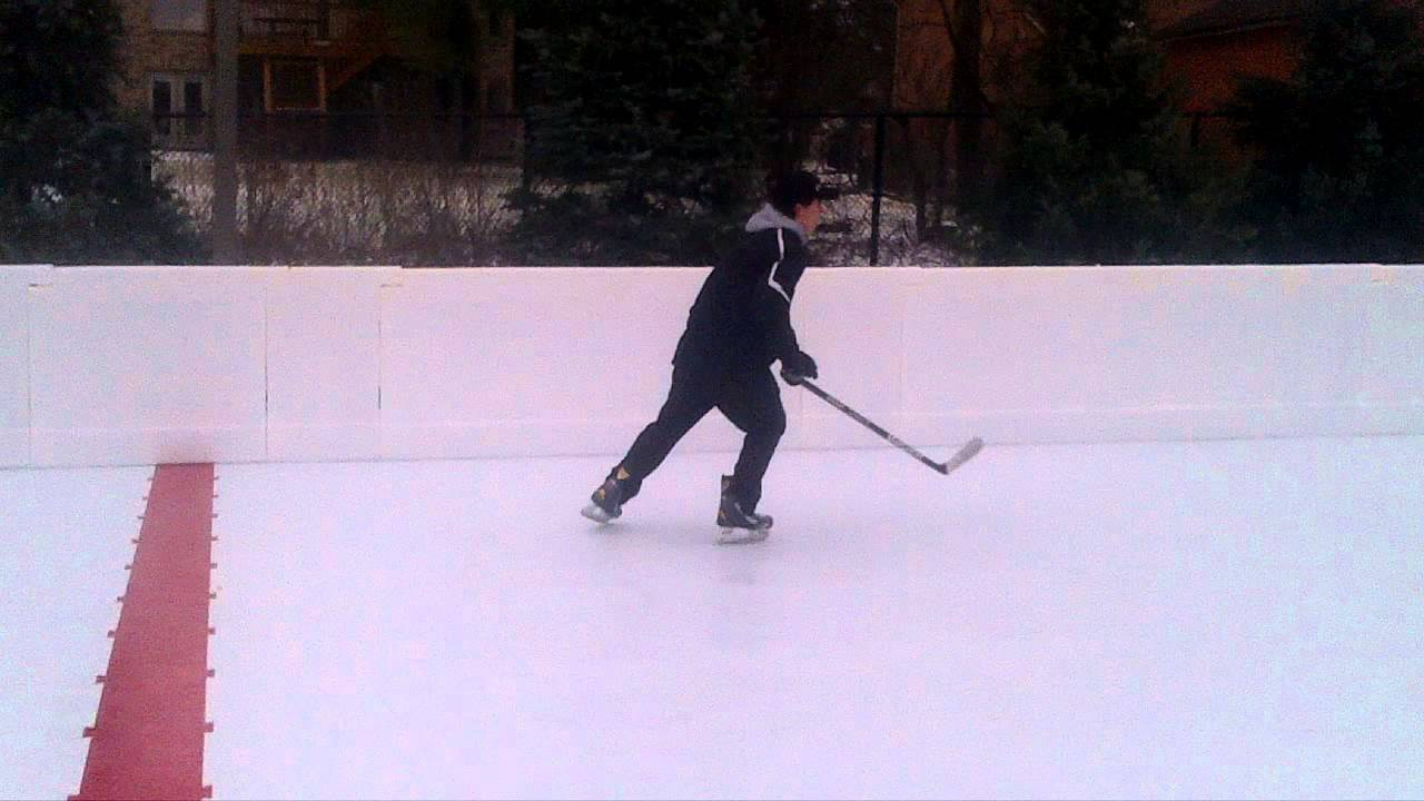 procision ice outdoor project using kwik rink synthetic ice youtube