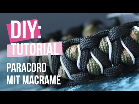 DIY tutorial – Paracord Armband mit Macramé – Selbst Schmuck machen