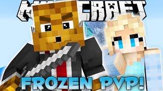 Minecraft DISNEY FROZEN PVP Elsa's Castle