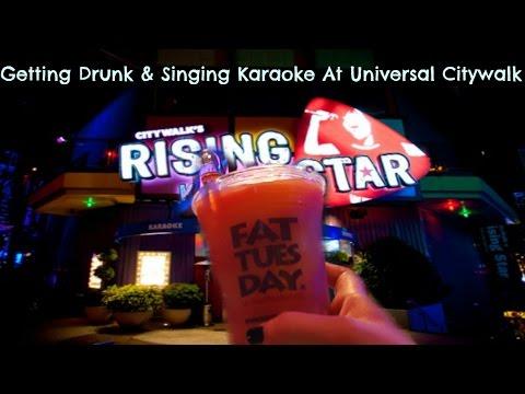 Getting Drunk & Singing Karaoke at Universal Citywalk