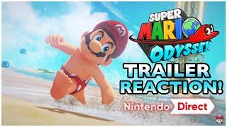 Super Mario Odyssey Nintendo Direct Trailer REACTION!