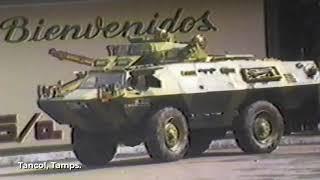 #SiempreConMéxico. 1985. Demostración de vehículos blindados DN-5, Tancol, Tamps.#SiempreContigo.