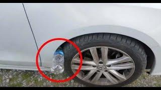 Polis ; Araba Lastiğinde Bir Pet Şişe Bulursanız, Tehlikede Olabilirsiniz