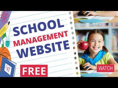 FREE School Management WordPress Website Tutorial - Attendance, Results, Timetable, Notifications