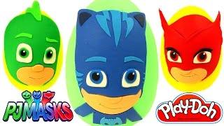 3 Ovos Surpresas de PJ Masks em Português Brasil de Massinha Play Doh