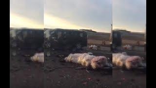 Смотреть видео Шесть граждан Азербайджана погибли в ДТП на Ставрополье онлайн