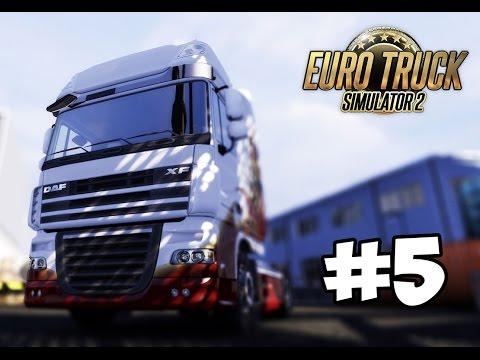 Euro Truck Simulator 2 Multiplayer - #5 [ Ночь, дождь и дальний свет фар ]