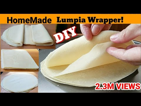 How To Make LUMPIA WRAPPERS! | DIY LUMPIA WRAPPERS | EGG ROLLS WRAPPERS !!!