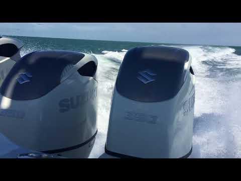 Triple Suzuki Marine 350 hp Outboard Re-Power Water Test 42 Yellowfin