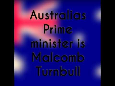 Who is Australia's Prime Minister?