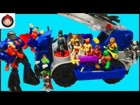 Imaginext DC Super Friends RC Mobile Command Center Unboxing Video - Justice League Battles Darkseid