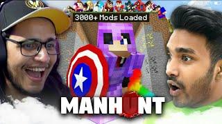 Indian Gamers React On Minecraft Manhunt | Techno Gamerz | Battle Factor