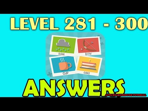 Pictoword Level 281 - 300 - All Answers - Walkthrough ( By Kooapps LLC )