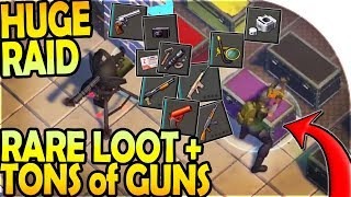 HUGE C4 RAID w/ RARE LOOT + TONS of GUNS ( 88727 ) - Last Day On Earth Survival Update 1.9.6