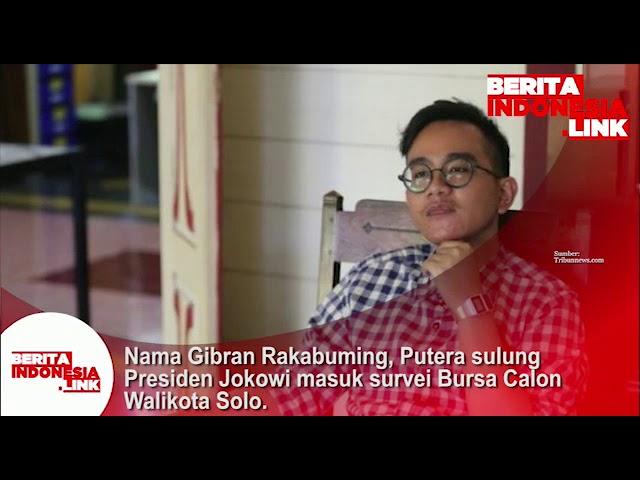 Gibran Rakabuming, Putera Sulung Presiden Jokowi masuk survei bursa calon Walikota Solo.