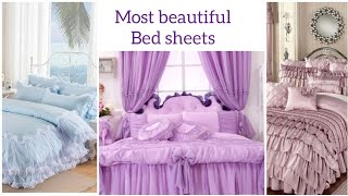 Most beautiful expensive bridal bed sheets and curtains