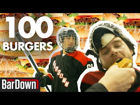 TRYING TO EAT 100 BURGERS BEFORE HOCKEY
