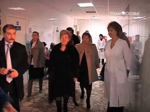Нина Суслонова посетила медучреждения Серпухова и Пущина