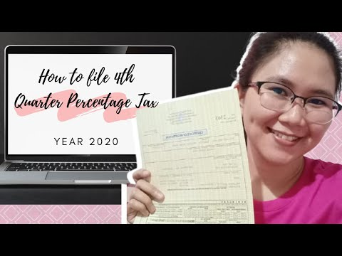 HOW TO FILE FORM 2551Q   4TH QUARTER PERCENTAGE TAX 2020