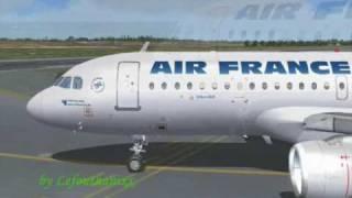 FS2004 Air france A320 @ Arlanda Stockholms