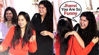 Jhanvi Kapoor, Anshula Kapoor, Khushi Kapoor Can't Stop Laughing At Namaste England Screening