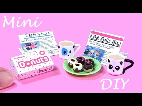 DIY Miniature Donuts, Dog & Panda Mugs, & Newspapers