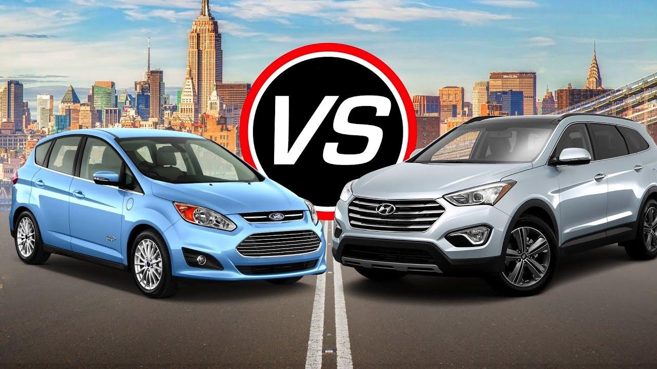2016 Ford C Max Hybrid vs Hyundai Santa Fe SE Spec parison