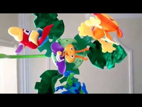 Fisher Price Rainforest Cot Mobile Music Loop. With Mozart Beethoven Bach Music & Rainforest Sounds
