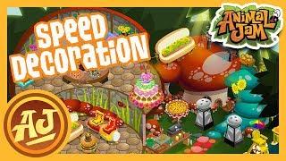 Mushroom Hut Speed Decoration!  |  Animal Jam