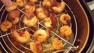 Bacon Wrapped Fresh Shrimp on the Power Air Fryer XL