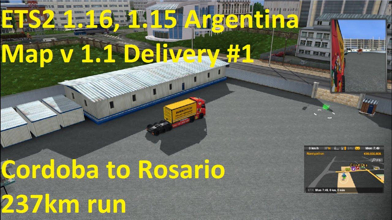 ETS Argentina Map V Delivery YouTube - Argentina map ets2