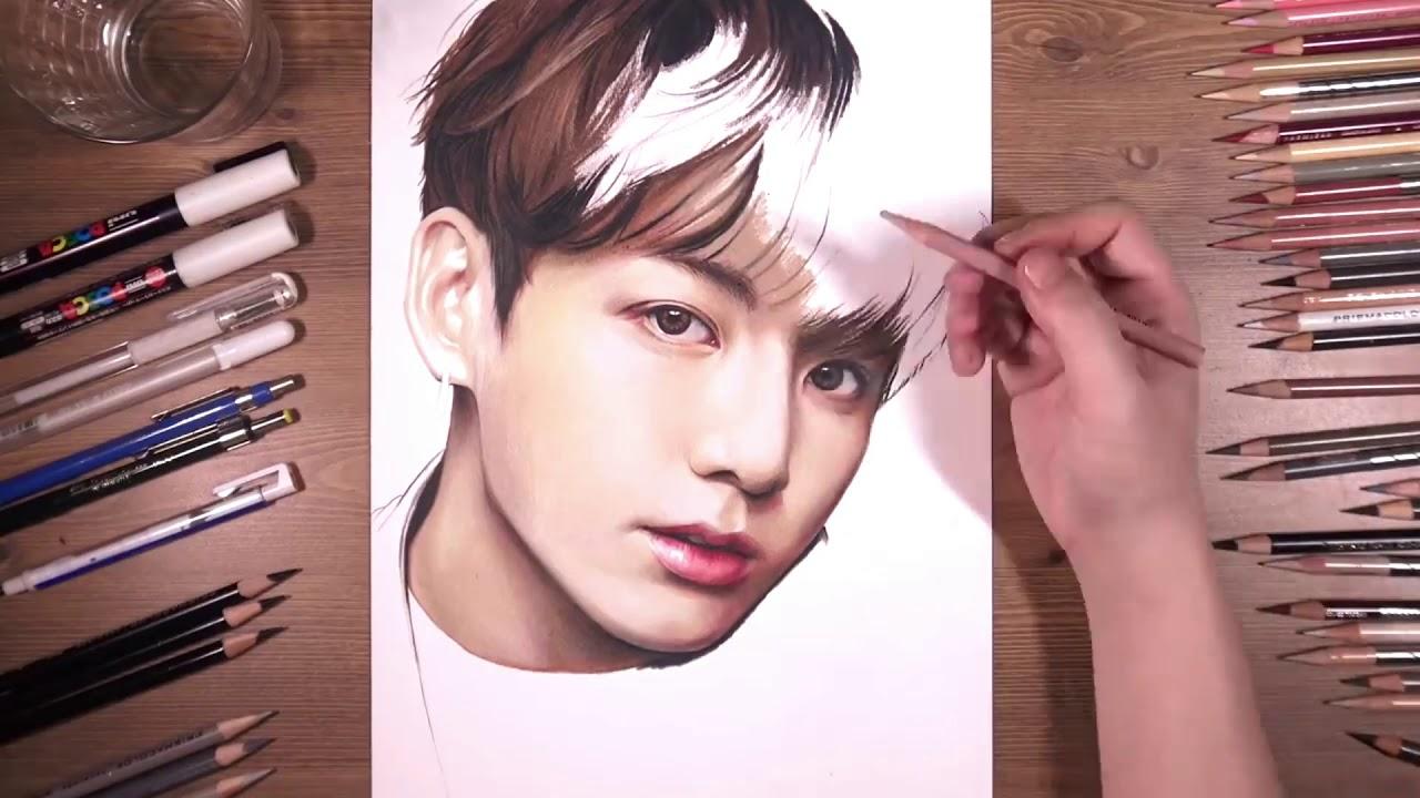 Jungkook Do Bts Como Desenhar O Jungkook Do Bts