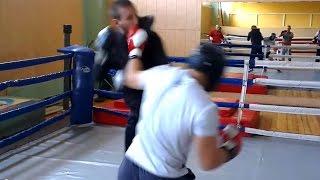 Angel Angelov (black Helmet) Vs Many Boxers (sparring Without A Break)