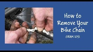 Bike Chain Removal and Installation Road Bike SRAM 1051