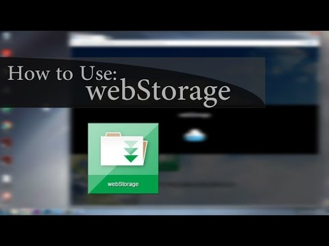 How to Use: webStorage